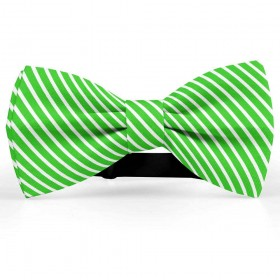 Papion butterfly, verde-mar, imprimeu dungi albe inguste
