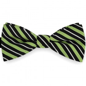 Papion verde clasic, imprimeu dungi oblice negre