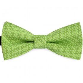 Papion barbati verde absint, clasic, labirint