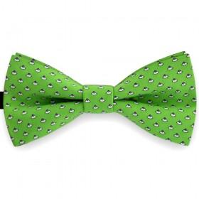 Papion clasic verde smarald, imprimeuri scoici.