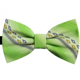 Papion verde Absint, print romburi