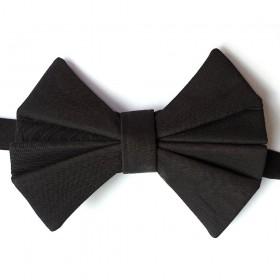 .Papion negru, sofisticat, model Evantai