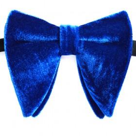 Papion amplu, model Velvet Spell, elegant, catifea albastra