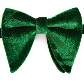 Papion amplu, model Velvet Spell, elegant, catifea verde smarald