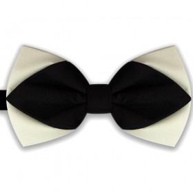 Papion diamant, butterfly, bicolor, alb ivoire-negru