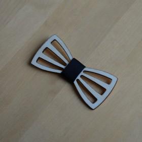 Papion de lemn, personalizat, model Butterfly