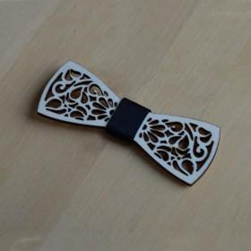 Papion de lemn, personalizat, model Design Oriental